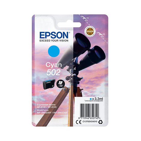 Cartouche d'encre Epson Cyan 502