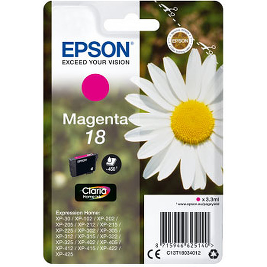 Cartouche imprimante Epson Magenta 18