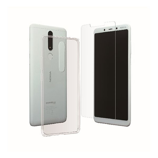 Coque et housse Muvit Pack Coque + Verre trempé - Nokia 3.1 Plus