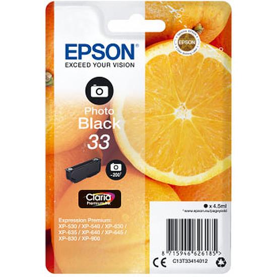 Cartouche imprimante Epson Noir 33 Photo