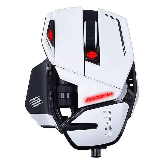 Souris PC Mad Catz R.A.T.6+ - Blanc