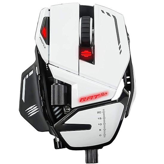 Souris PC Mad Catz R.A.T.8+ - Blanc