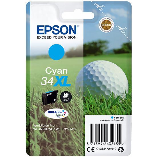 Cartouche imprimante Epson Cyan 34XL
