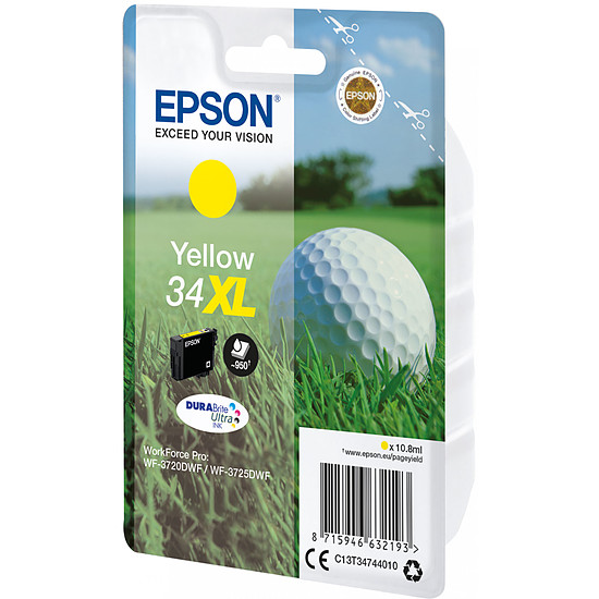 Cartouche imprimante Epson Jaune 34XL