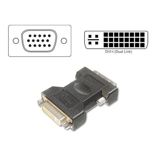 DVI Adaptateur VGA Mâle vers DVI-I Femelle