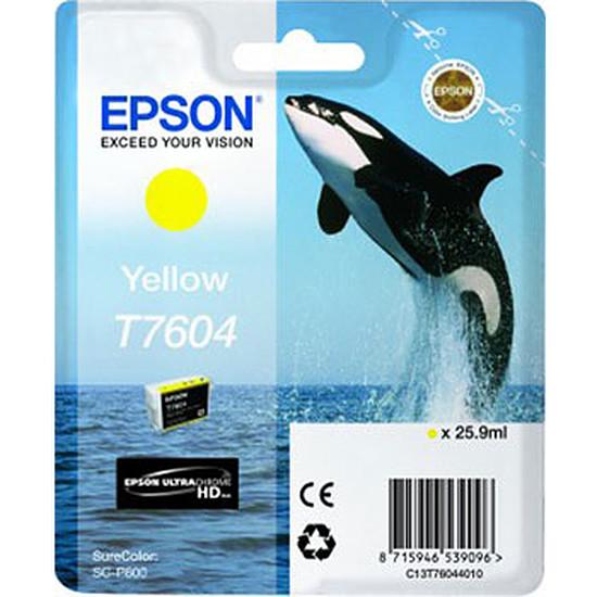 Cartouche imprimante Epson Jaune T7604