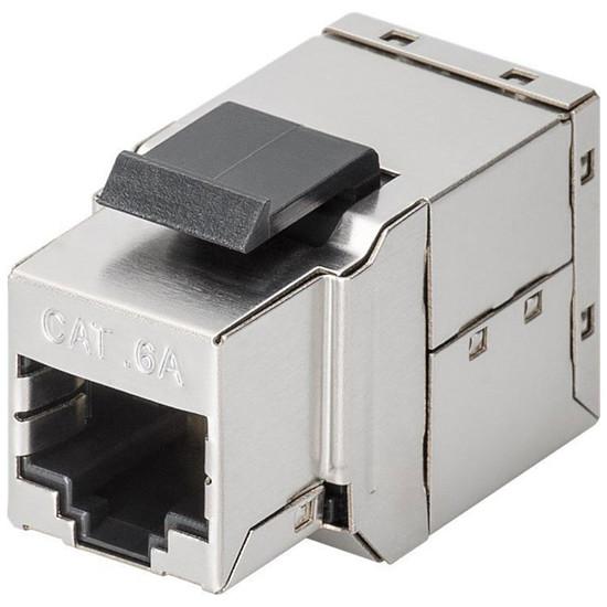 Connectique RJ45 Goobay Coupleur RJ45 Keystone Cat 6a STP - 500 MHz