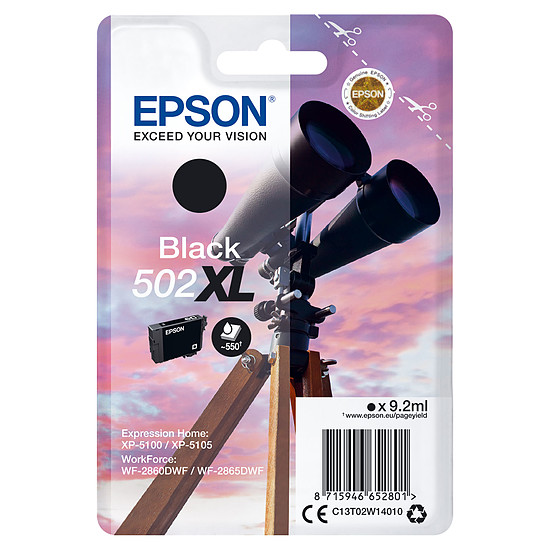 Cartouche d'encre Epson Noir 502XL