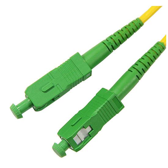 Câble fibre Optique Jarretière optique simplex monomode 9/125 SC-APC/SC-APC (2 mètres)