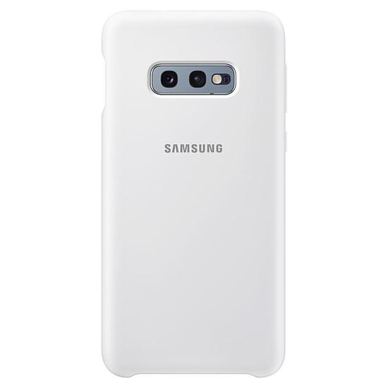 Coque et housse Samsung Coque silicone (blanc) - Samsung Galaxy S10E - Autre vue