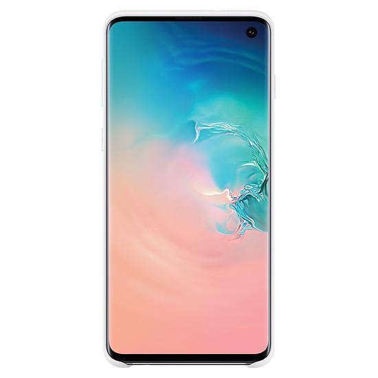 Coque et housse Samsung Coque silicone (blanc) - Samsung Galaxy S10