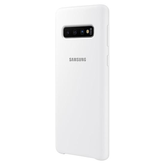 Coque et housse Samsung Coque silicone (blanc) - Samsung Galaxy S10 - Autre vue