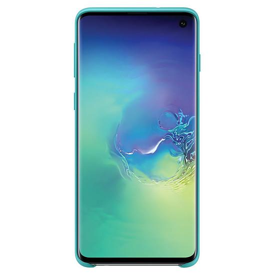 Coque et housse Samsung Coque silicone (vert) - Samsung Galaxy S10