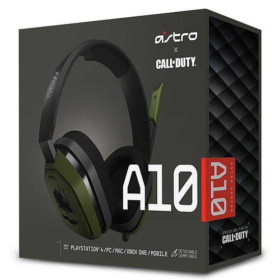 Casque micro Astro Gaming A10 - Call of Duty Edition - Noir - Autre vue