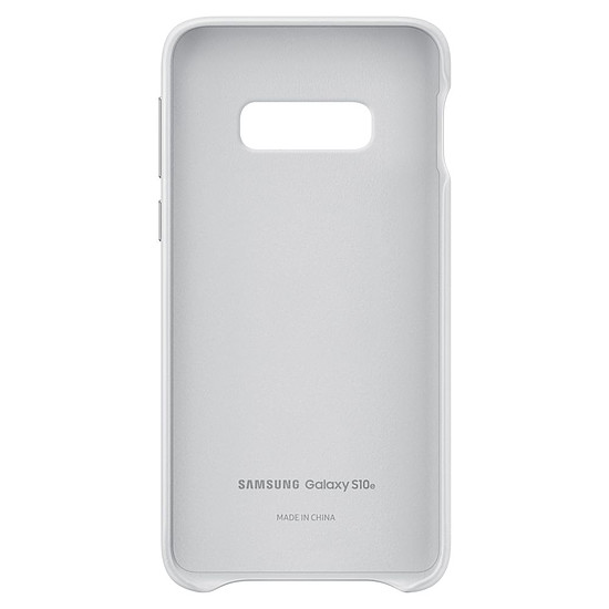 Coque et housse Samsung Coque cuir (blanc) - Samsung Galaxy S10E - Autre vue