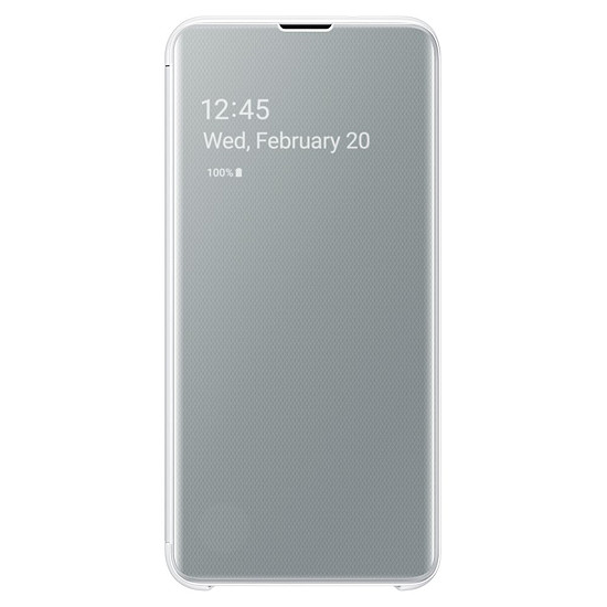 Coque et housse Samsung Etui folio Clear View (blanc) - Samsung Galaxy S10E