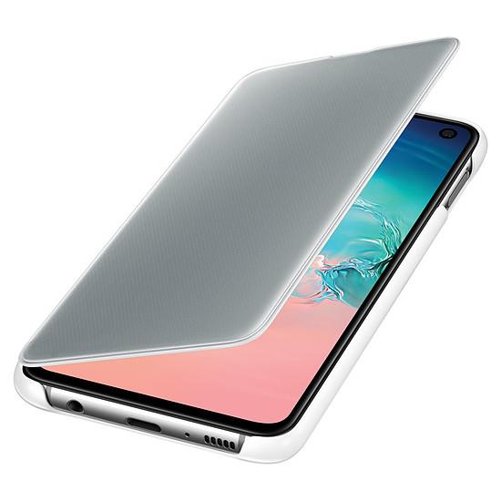 Coque et housse Samsung Etui folio Clear View (blanc) - Samsung Galaxy S10E - Autre vue