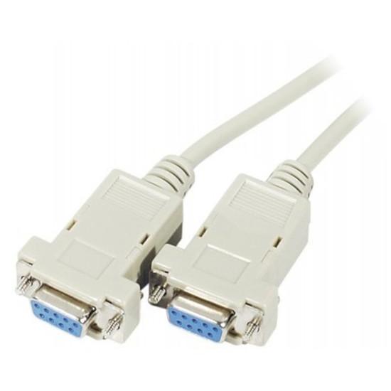 Série Câble DB9 Null Modem femelle / femelle (1.8 mètre)