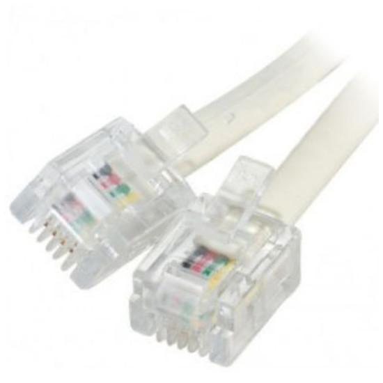 Câble RJ11 Câble RJ11 mâle/mâle pour ligne ADSL 2+ (10 mètres) - (coloris beige)