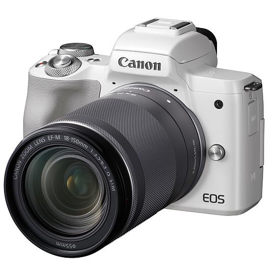 Appareil photo hybride Canon EOS M50 Blanc + EF-M 18-150 mm IS STM - Autre vue