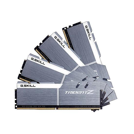 Mémoire G.Skill Trident Z Silver / White DDR4 4 x 8 Go 3200 MHz CL16
