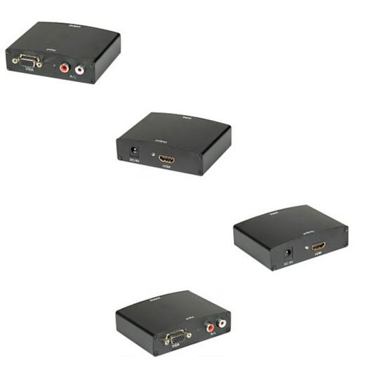 VGA Convertisseur VGA + RCA / HDMI