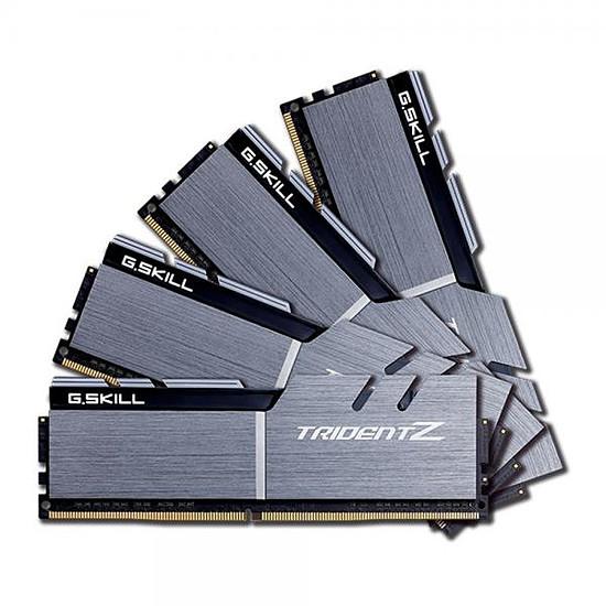 Mémoire G.Skill Trident Z Silver / Black DDR4 4 x 8 Go 3200 MHz CL16
