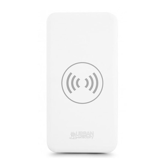 Batterie et powerbank Urban Factory Bigee Wireless (blanc) - 10000 mAh - Qi