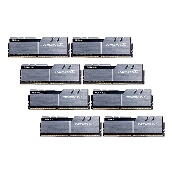 Mémoire G.Skill Trident Z Silver / Black DDR4 8 x 8 Go 3200MHz CL16