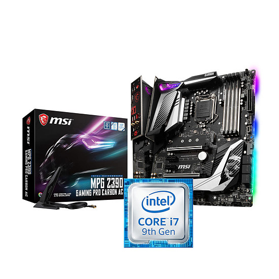 Kit upgrade PC Intel Core i7-9700K + MSI MPG Z390 GAMING PRO CARBON AC