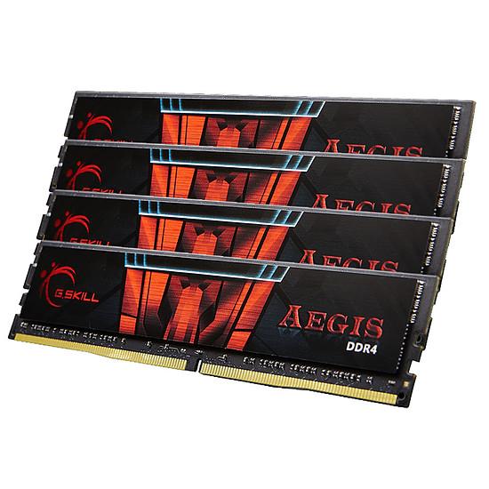 Mémoire G.Skill Aegis DDR4 4 x 8 Go 3200 MHz CAS 16