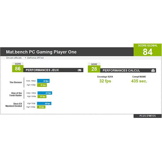 PC de bureau Materiel.net Player One [ Win10 - PC Gamer ] - Autre vue