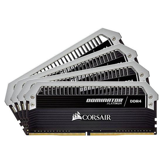 Mémoire Corsair Dominator Platinum DDR4 4 x 8 Go 3600 MHz CAS 16