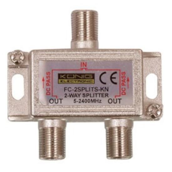 Câble Satellite Répartiteur coaxial 2 voies Type F