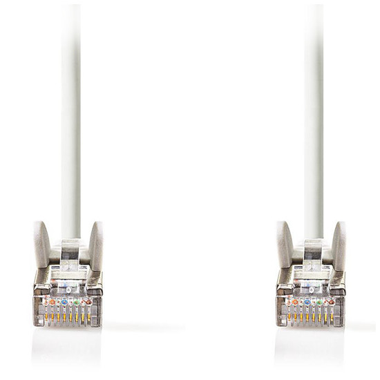 Câble RJ45 Nedis Câble RJ45 catégorie 5e SF/UTP 1 m (Blanc) - Autre vue