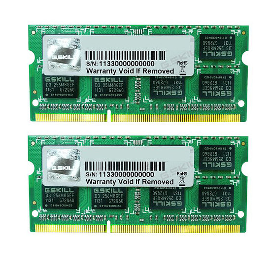Mémoire G.Skill SO-DIMM DDR3 2 x 4 Go 1333 MHz SQ CAS 9