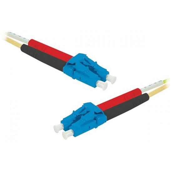 Câble fibre Optique Jarretière optique duplex monomode 2mm OS2 LC-UPC/LC-UPC (5 mètres)