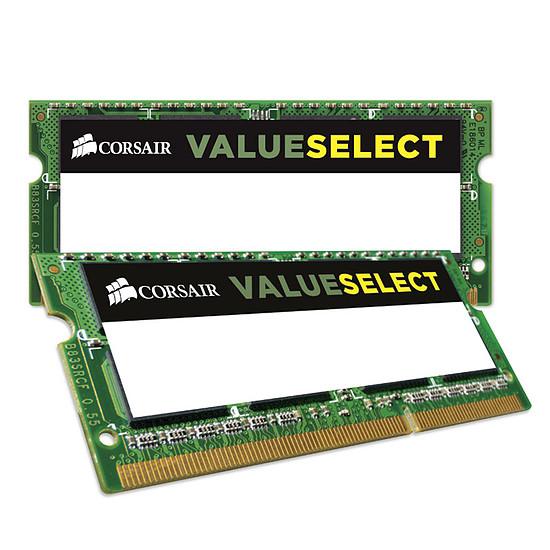 Mémoire Corsair Value Select SO-DIMM DDR3L 2 x 4 Go 1600 MHz CAS 11