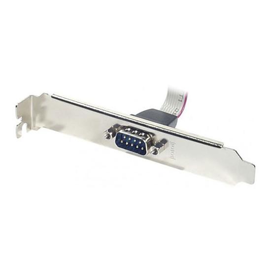 Série Equerre slot DB9 avec connecteur nappe HE-10 femelle - 10 contacts