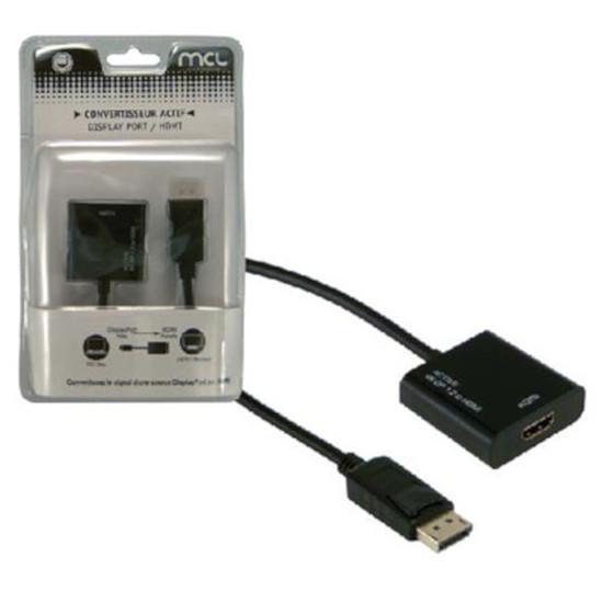 DisplayPort Adaptateur actif DisplayPort mâle / HDMI femelle (compatible 4K et 3D)