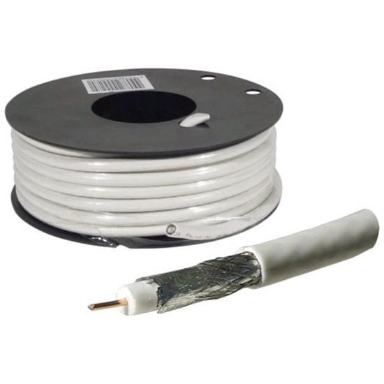 Câble Satellite Câble coaxial pour antenne TV / Satellite (rouleau de 25 mètres)