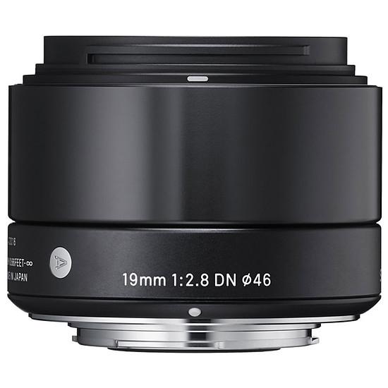 Objectif pour appareil photo SIGMA 19mm F2.8 DN Noir monture Micro 4/3
