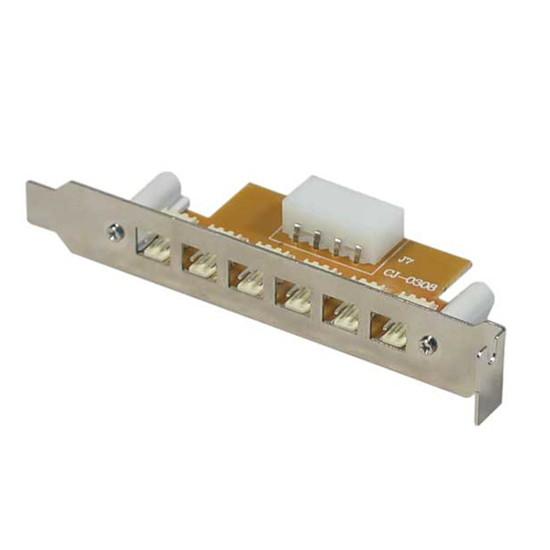 Alimentation Equerre slot PCI avec 6 connecteurs 3-PIN externes pour ventilateurs