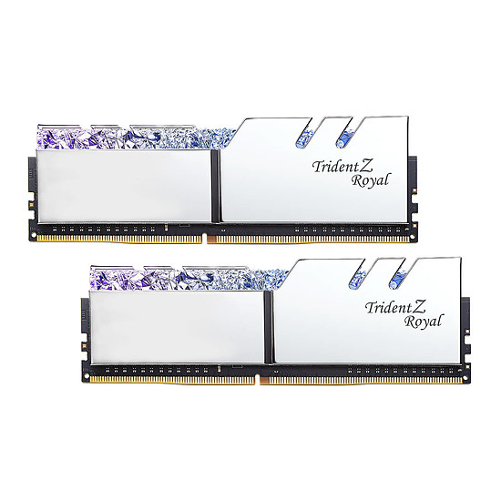 Mémoire G.Skill Trident Z Royal Silver RGB 32 Go (2 x 16 Go) 3000 MHz DDR4 CL16 - Autre vue