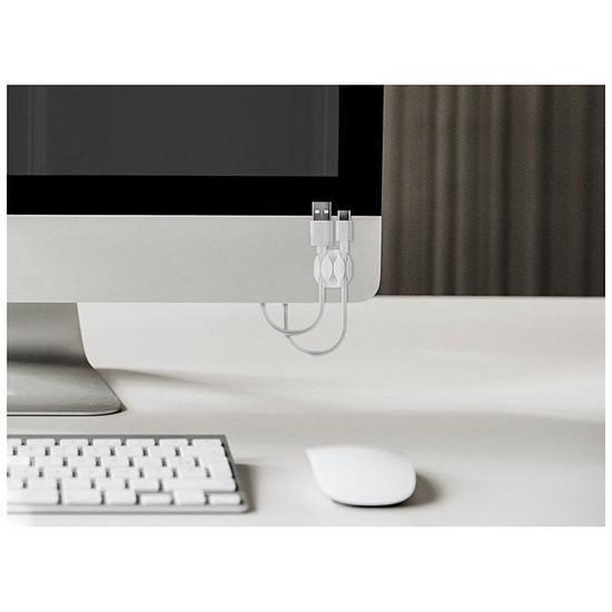 Passe câble et serre câble Goobay 3 Slot Cable Management - Noir - Autre vue