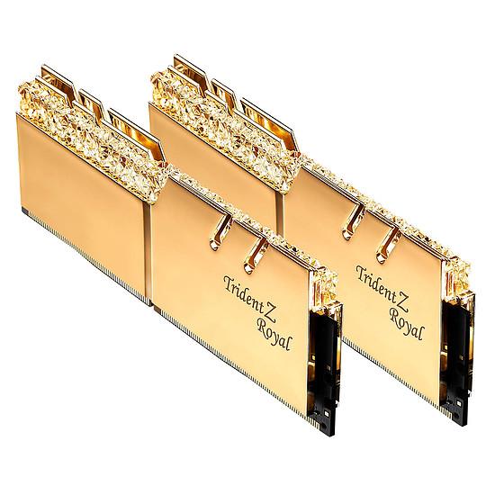 Mémoire G.Skill Trident Z Royal Gold RGB 16 Go (2 x 8 Go) 3600 MHz DDR4 CL18