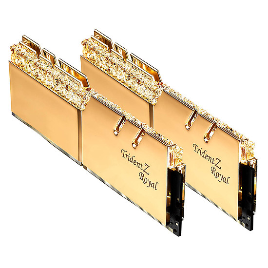 Mémoire G.Skill Trident Z Royal Gold RGB 16 Go (2 x 8 Go) 3600 MHz DDR4 CL16