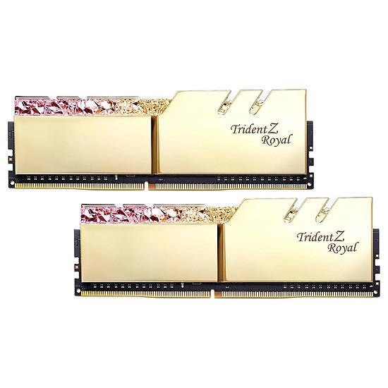 Mémoire G.Skill Trident Z Royal Gold RGB 64 Go (2 x 32 Go) 3000 MHz DDR4 CL18 - Autre vue