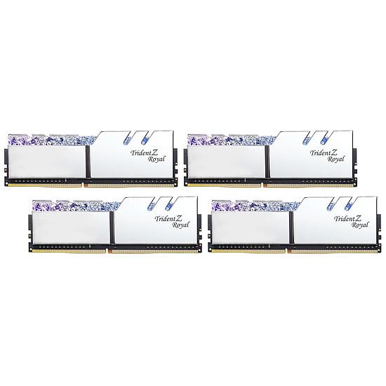 Mémoire G.Skill Trident Z Royal Silver RGB 32 Go (4 x 8 Go) 3000 MHz DDR4 CL16 - Autre vue
