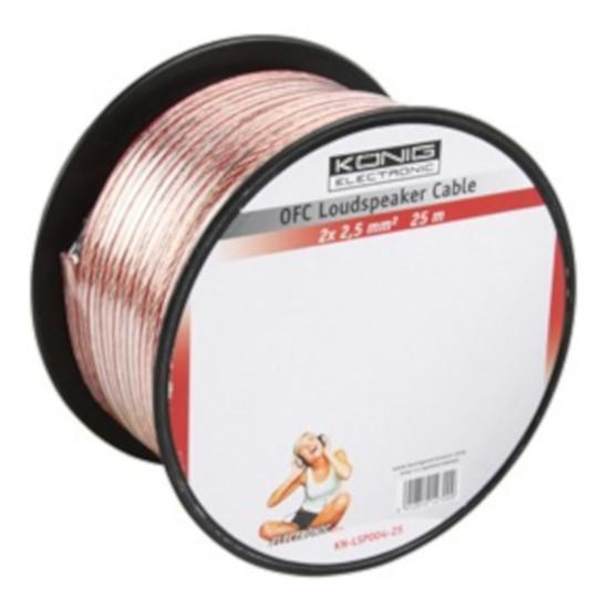 Câble d'enceintes Câble Haut-Parleur 0.75 mm² en cuivre OFC - rouleau de 25 mètres - Autre vue
